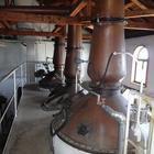 ウィスキー工場 蒸留器の搬入